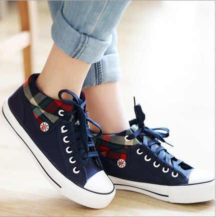 Ayakkabı kadın vulkanize ayakkabı tuval rahat ayakkabılar Lace Up bayanlar Sneakers moda sepeti Femme yıldız Tenis Feminino 2020 dfv