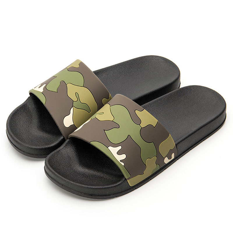 Men Summer Slippers 2020 New Casual Shoes Non-slip Indoor And Outdoor Camo Style Sandals 4 Colors Zapatos Hombre Husband's Gift