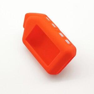 Image 4 - Funda de silicona para llave de coche, para Sher khan Mobicar A Mobicar B, versión rusa, LCD bidireccional, mando A distancia, llavero con alarma
