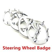 Высокое качество Серебристый Хром V логотип 3D из АБС-пластика ПВХ автомобилей Аксессуары для Mazda автоматическое рулевое колесо значок, стик...