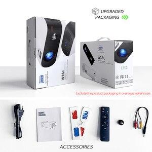Image 5 - AUN MINI Projektor W18, 2800 Lumen (Optional Android 6,0 wifi W18D), unterstützung Full HD 1080P LED Projektor 3D Heimkino