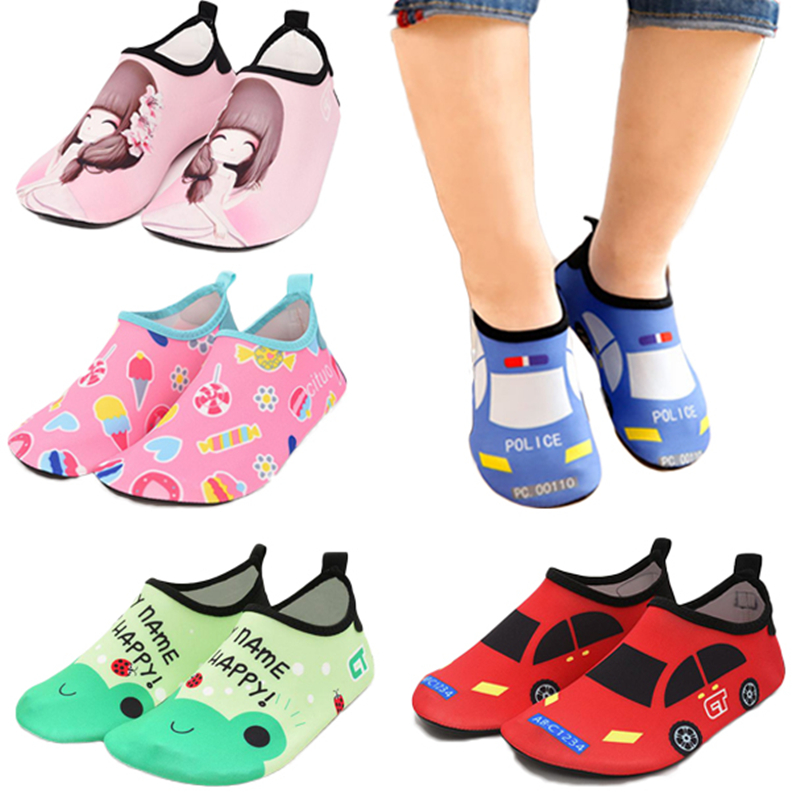 Kids Slippers Water Shoes Quick Drying  Casual Footwear Barefoot Lightweight Aqua Socks For Beach Pool Cartoon Children Slippers