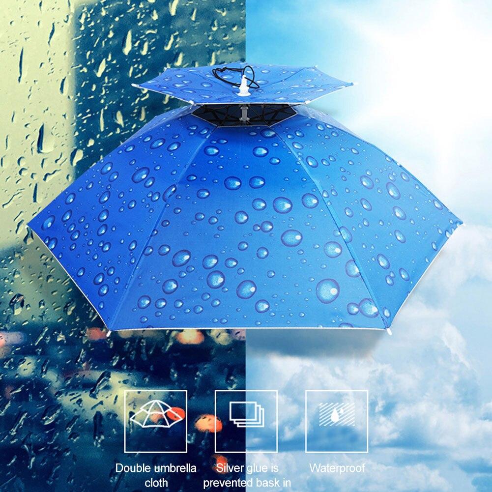 Портативный с креплением на голову Зонт Солнце Тент Легкий Кемпинг Рыбалка Туризм Фестиваль Открытый Зонтик Складной Крышка Зонт