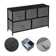 【US Warehouse】2-Tier Wide Closet Dresser, Nursery Dresser Tower,Grey Storage Shelf
