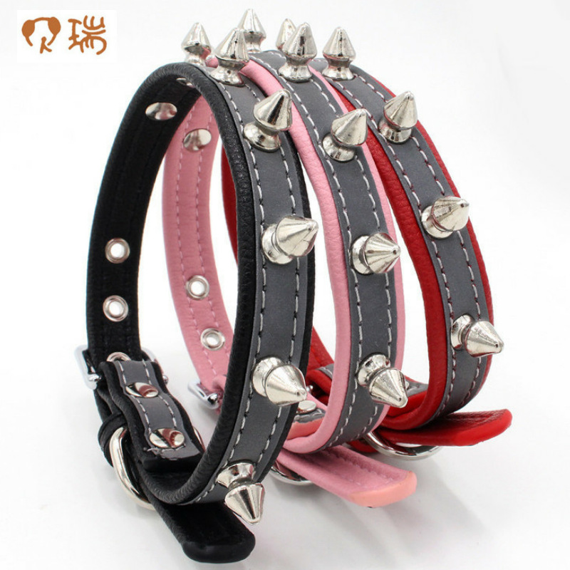 New Style Rivet Neck Ring Reflective Microfiber Pet Circle Anti-Bite Spike Dog Neck Ring 2019 Pet New Products