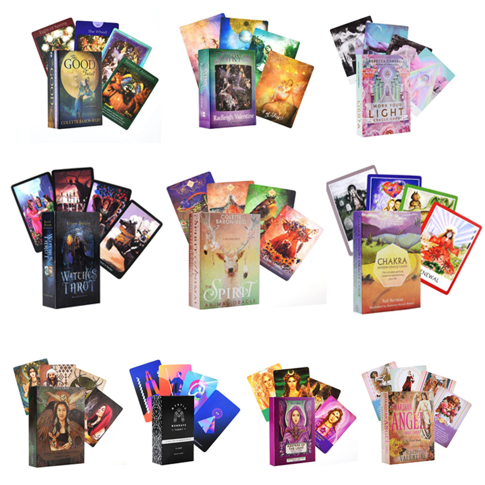 Mystic Witche Tarot Cards Game Oracle Cards Tarot Table Card Board Games For Party Playing Tarot Cards Entertainment Family Game