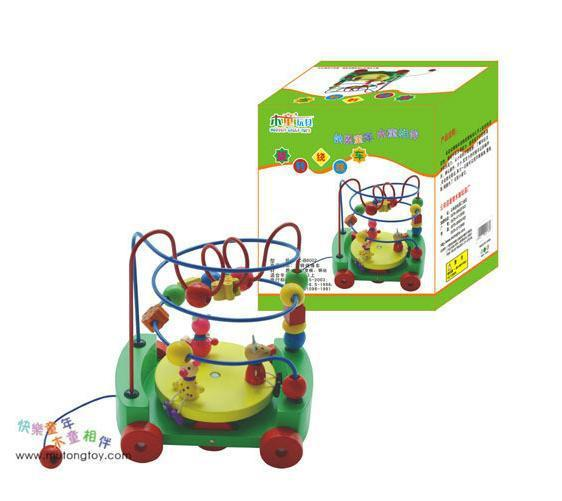 Bead-stringing Toy Toy Wooden Child Rotating Bead Maze Cart Early Education ENLIGHTEN Toy 8002