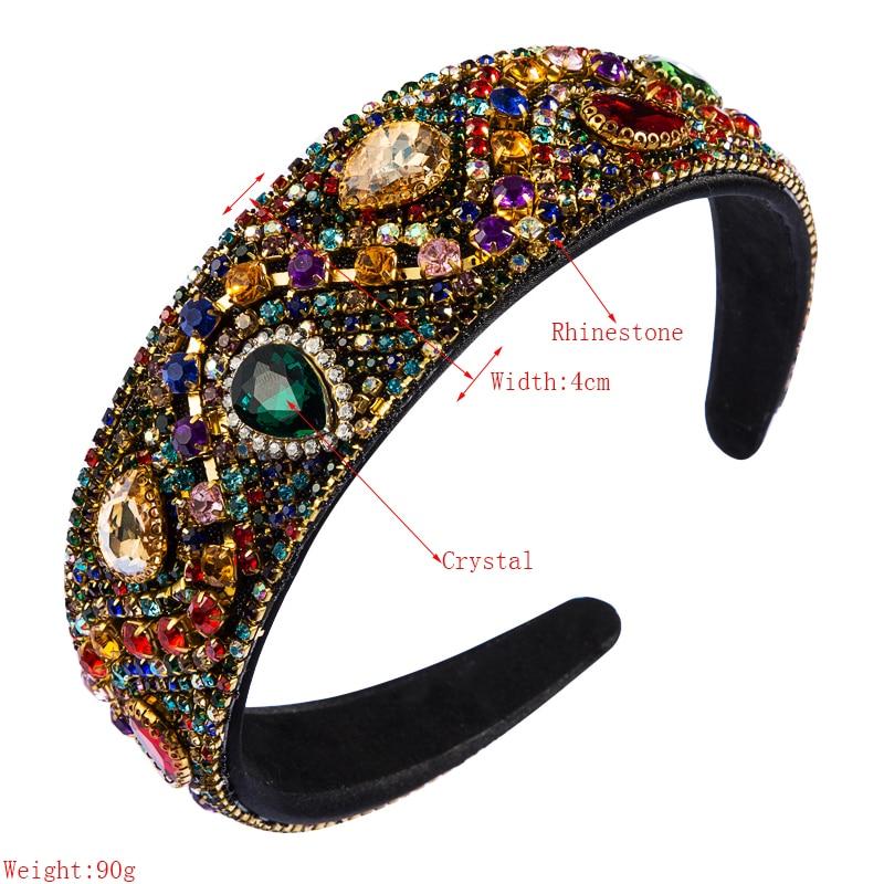 de Cristal Ampla Headband Elegante Multi Color