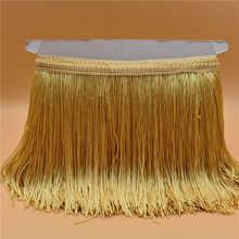 Garniture Galon en dentelle 10 m, pour robe latine, couleur or, 15CM de large, accessoire pour vêtements de scène, ruban