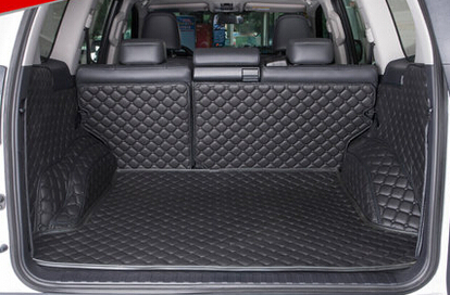( Car Travel )Good! Special trunk mats for Toyota Land Cruiser Prado 150 5seats 2016 waterproof boot carpets for Prado 2015-2010