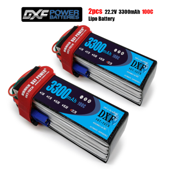 2PCS DXF Good Quality RC Lipo battery 6S 22.2V 3300mah 100C Max 200C for  Airplane Drone Quadrotor Car Boat truck fpv