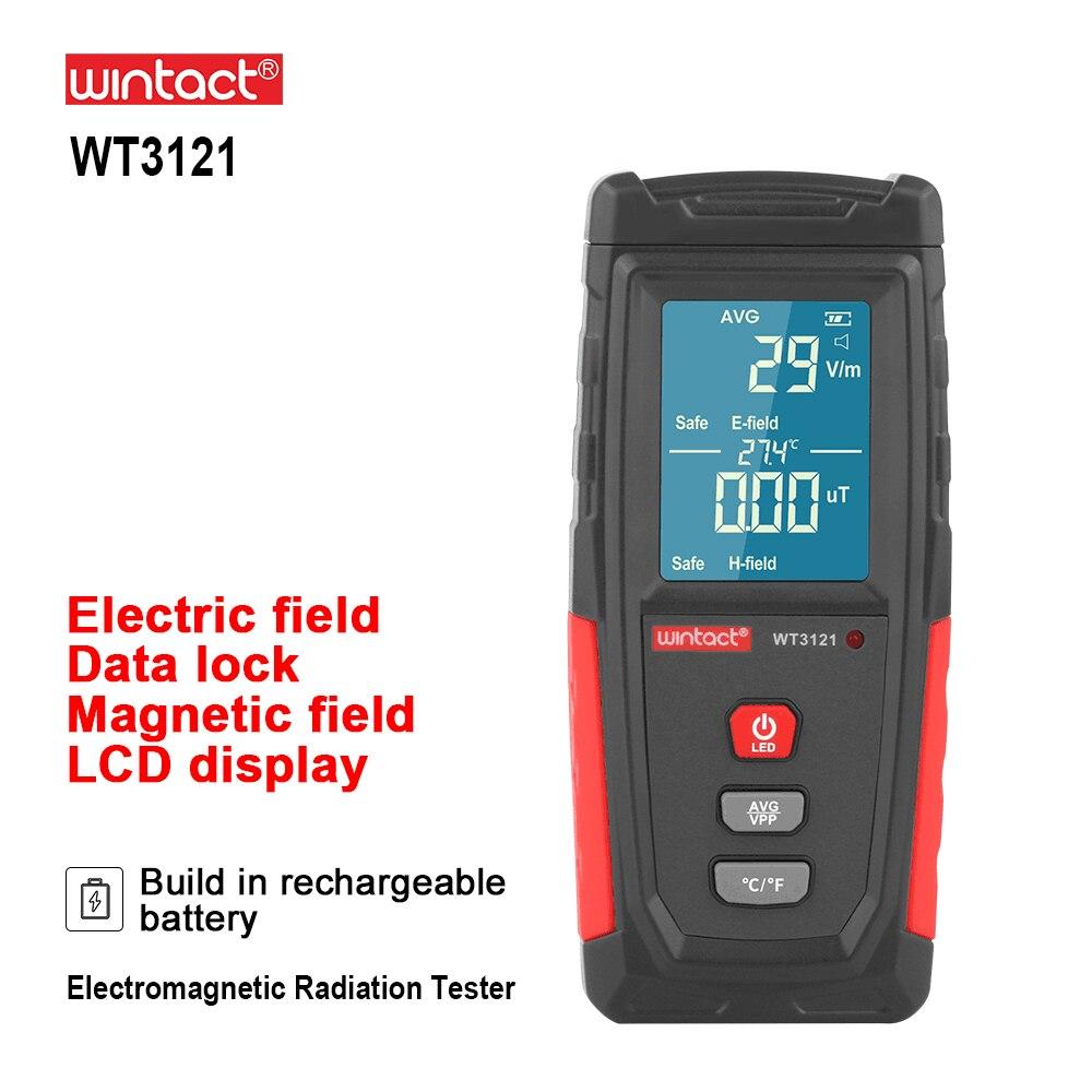 RZ แม่เหล็กไฟฟ้าสนามรังสีเครื่องตรวจจับ EMF Meter ชาร์จมือถือแบบพกพาเคาน์เตอร์ Emission Dosimeter คอมพิวเตอร...