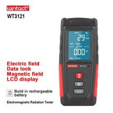 RZ электромагнитного поля излучения тестер с ЖК-экраном звуковой сигнал тревоги Emf измеритель перезаряжаемый ручной Портативный счетчик из...