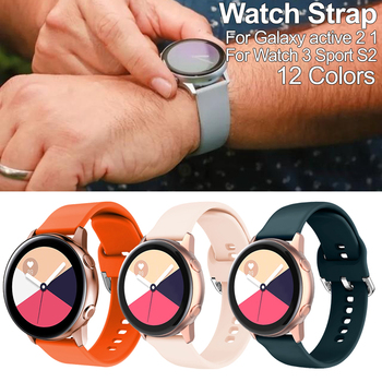 Strap Silicone sport watch band For Galaxy active 2 1 Gear smart strap Replacement  20MM