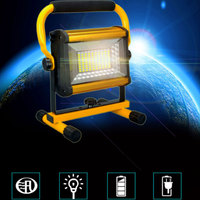 Rechargeable 100 LED Flood Light Handheld Spotlight Searchlight Outdoor Camping Lantern Project Construction Lamp