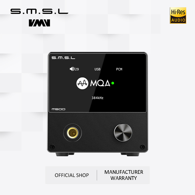SMSL M500 Audio Amplifier &Audio XMOS XU-216 Supports MQA D/A chip ES9038PRO Supports DoP&Native DSD 32bit/768kHz DSD512 Black image