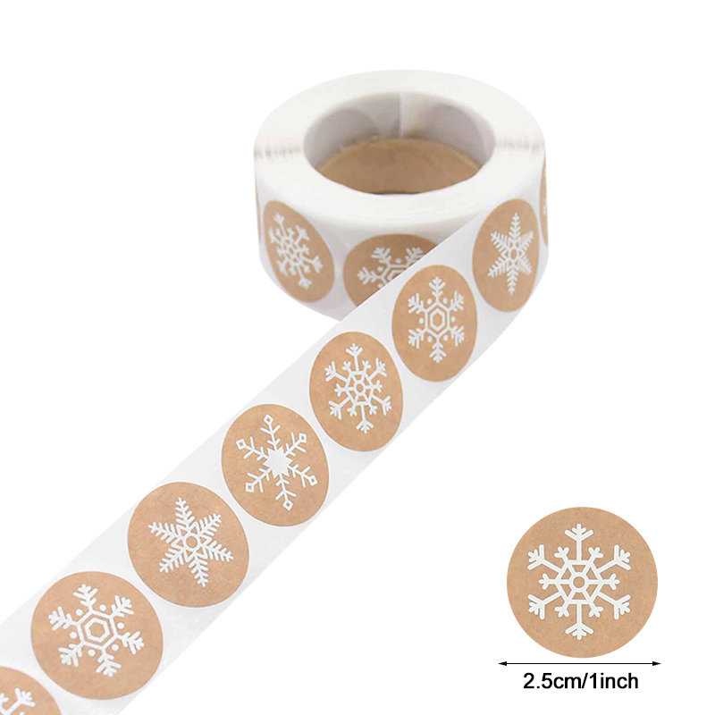 500pcs Merry Christmas Stickers Christmas Tree Elk Candy Bag Sealing Sticker Christmas Gifts Box Labels Decorations New Year 4
