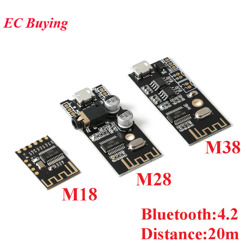 Wireless Bluetooth Audio Receiver Board Module MH-MX8 M18 M28 M38 BLT 20M 4.2 MP3 Lossless Decoder Stereo Electronic DIY Kit