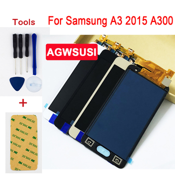 "Adjust 4.5"" for Samsung Galaxy A3 2015 A300 SM- A300X A300H A300FU A300FN LCD Display Screen + Touch Digitizer Sensor Assembly"