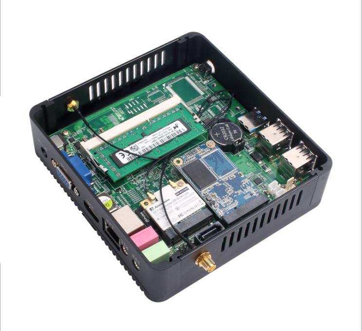 Best Fanless Mini Desktop PC Intel Core I5 8250u Dual Lan Barebone System Personal Computer For Windows 10