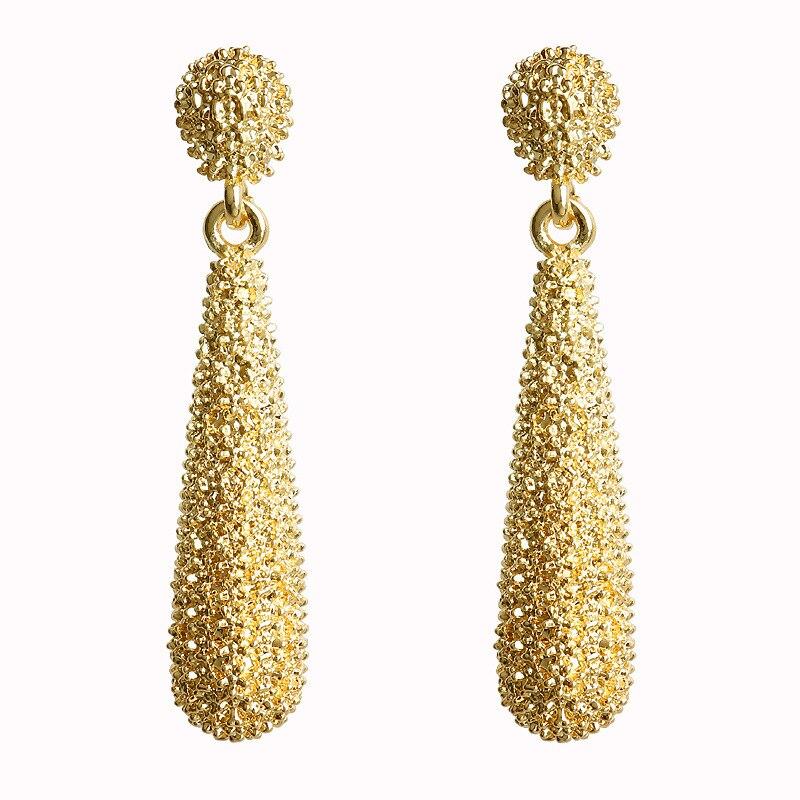 Mostyle 30 стилей модные большие винтажные золотые серебряные розовые золотые геометрические массивные металлические Висячие серьги для женщин - Окраска металла: 62936