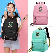 US Drama Riverdale River Valley Town with The Same Backpack Schoolbag Korean Student Female Large Capacity USB Charging Bag