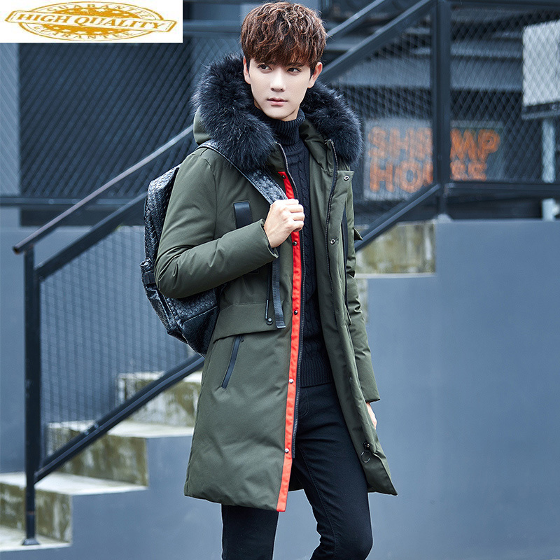 Big Fur Collar Winter Down Jacket Men Long Thick Korean Coat Men's Winter Jackets Parka Casaco Masculino Inverno KJ502