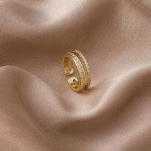 2021 coreano novo requintado simples abertura anel moda temperamento simples versátil anel jóias femininas