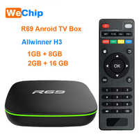 Wechip R69 Smart Android 7.1 TV Box 1GB 8GB Allwinner H3 Quad-Core 2.4G Wifi décodeur 1080P HD Support 3D film lecteur multimédia