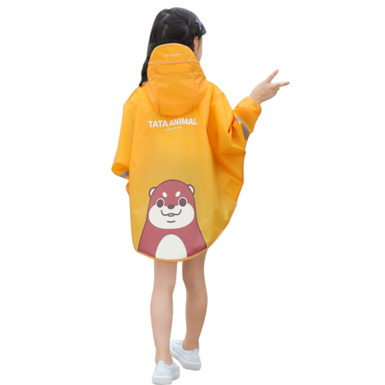 Cartoon Yellow Clear Raincoat Kids Rain Poncho Rain Coats Children Long Waterproof Suit Plastic Suit Capa De Chuva Rain Gear