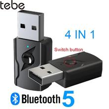 tebe 3.5mm Aux Bluetooth Stereo Receiver Transmitter Adapter Wireless USB Audio Dongle