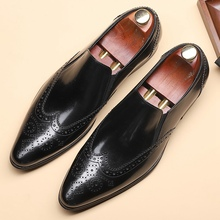 British Style Handmade Man Casual Shoes Genuine Leather Comfortable Loafers Poin