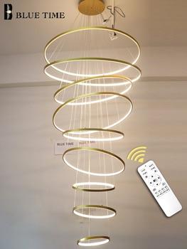 цена New Arrivals LED Pendant Lamp Plafond Hanging Lighting Circle Rings For Living room Dining room Bedroom Pendant Lights Fixtures онлайн в 2017 году