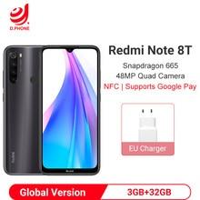 Global Version Xiaomi Redmi Note 8T 3GB 32GB Smartphone Snapdragon 665 Octa Core 48MP Quad Camera 40