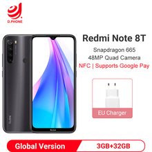Versión global Xiaomi Redmi Note 8T 3GB 32GB Smartphone Snapdragon 665 Octa Core