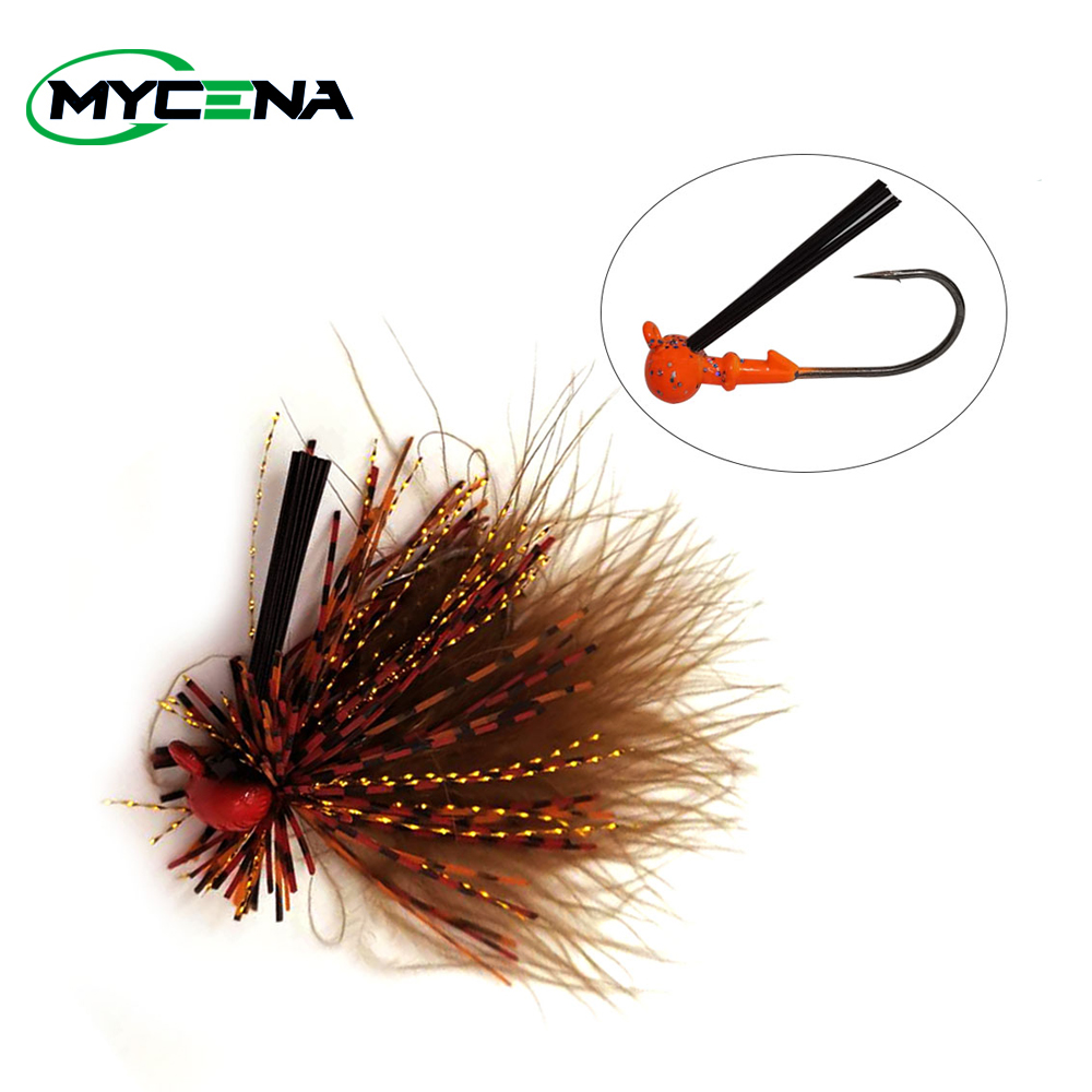 Mycena 7G spinnerbait Weedless crankbait  fishing lure chatterbait Rubber Jig Hook with Silicone Skirt for Trout Perch Bass-0