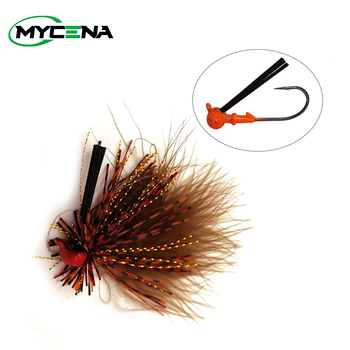 Mycena 7G spinnerbait Weedless crankbait  fishing lure chatterbait Rubber Jig Hook with Silicone Skirt for Trout Perch Bass