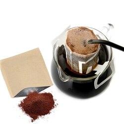 ホット販売 200 セットコンビネーションコーヒーフィルターバッグとクラフト紙コーヒーバッグ、ポータブルオフィス旅行ドリップコーヒーフィルターツールセット