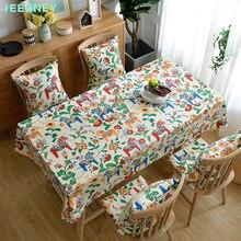 Linen Tablecloth Floral Printing Rectangular Easter Table Cloth 2021 Fabric Cover Home Decoracion Room Decor Manteles De Mesa