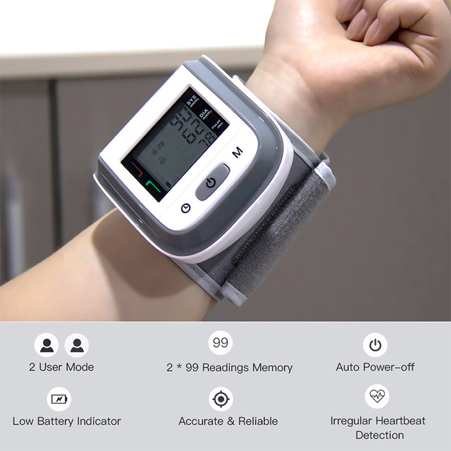 BOXYM Medical Fingertip Pulse Oximeter & LCD Wrist Blood Pressure Family Health Care Travel Packages 3