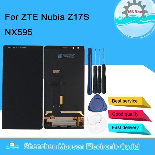 """الأصلي M & Sen 5.73 """"ل ZTE النوبة Z17S NX595J شاشة الكريستال السائل شاشة لوحة اللمس إطار محول الأرقام ل ZTE النوبة Z17 S"""