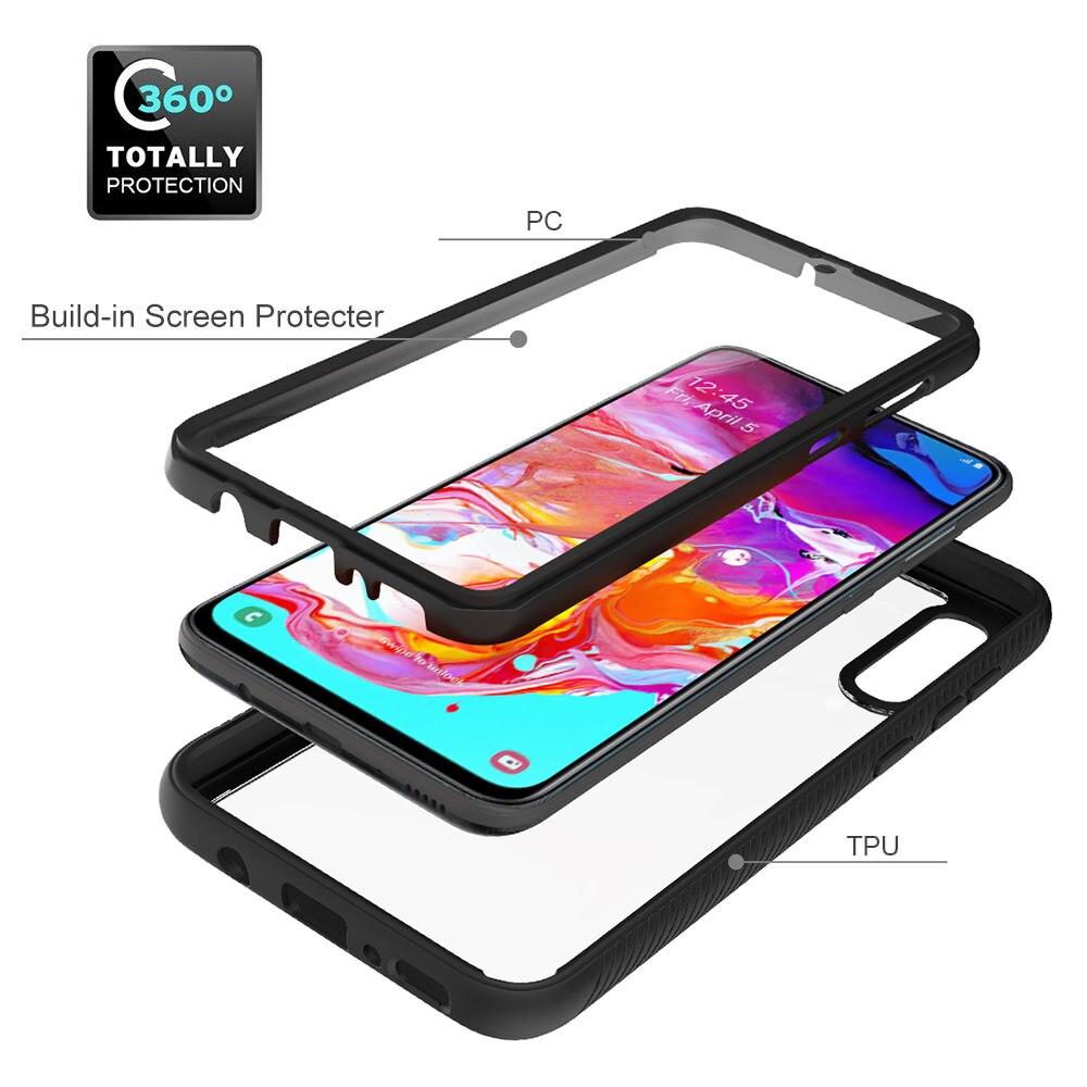 360 гибридный защитный чехол для Samsung Galaxy A20 A20e A30 A50 A70 для Samsung A51 A71, полностью прозрачный чехол