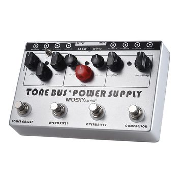 Hot MOSKY Guitar Combined Effect (Compressor + Tube Overdrive + Ultimate Overdrive) + 8 Isolated DC 9V Power Supply Outputs