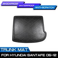 Auto Hinten Trunk-Boot Matte Wasserdicht Fußmatten Teppich Anti Schlamm Tablett Cargo-Liner Für Hyundai SantaFe 2005-2012