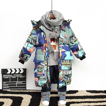 2019 Children Winter Down Cotton Jacket Baby Girl Parka Kids Warm Outerwear Hooded Coat Snowsuit Overcoat Winter Overall For Boy все цены
