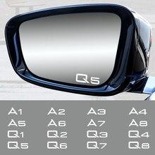4PCS Espelhos de Carro Decoração Adesivos Maçaneta Da Porta Criativo Decalques para Audi A1 A2 A3 A4 A5 A6 A7 A8 Q1 Q2 Q3 Q4 Q5 Q6 Q7 Q8 Acessórios