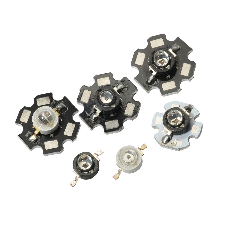5pcs 850nm Infrared LED 1W 3W IR Diode Bead Lamp High Power 850nm Infrared IR LED Diodo Invisible Surveillance Electronics DIY
