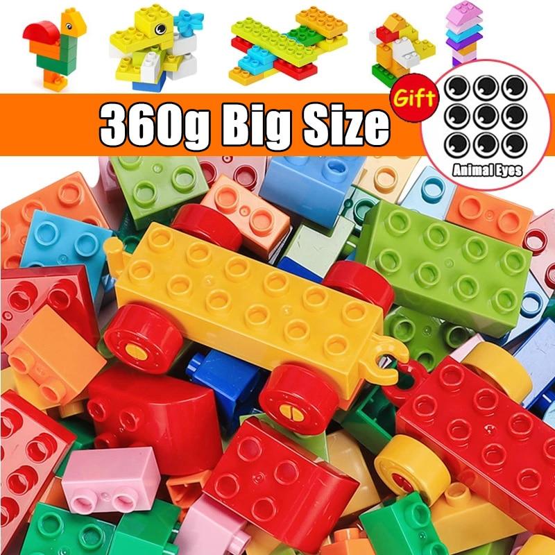 Большой размер, совместимый с Duploed, строительная статуэтка, Классические городские кирпичи, постоянные Развивающие игрушки для детей
