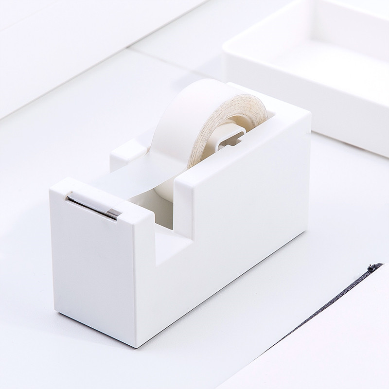 Creative Square Plastic Washi Tape Dispenser Adhesive Masking Tape Organizer Cutter Stand Holder Desktop Office School Supplies