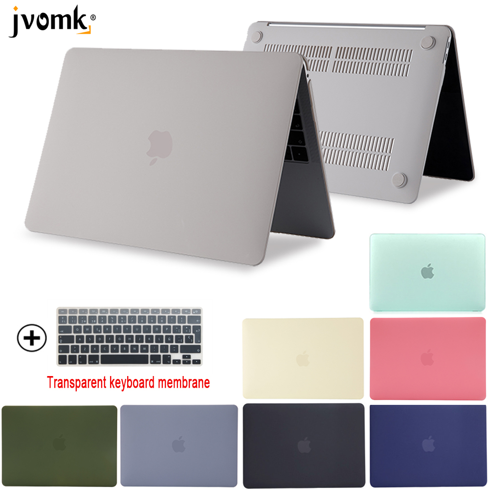 New Laptop Case For Apple MacBook Air Pro Retina 11 12 13 15 Mac Book 15.4 13.3 Inch With Touch Bar Sleeve Shield + Keyboard Cov